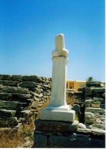 Antica Grecia: statua per culti fallici.