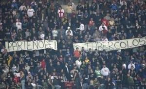 Striscione da stadio contro i napoletani...