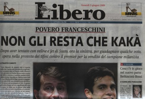 """""""Non gli resta che Kakà"""": 14 parolacce (e figuracce) dei giornali"""