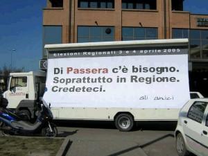 Parma: campagna elettorale di Massimo Passera (Ulivo).