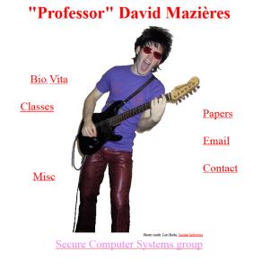 La home page del sito del prof. Mazières.