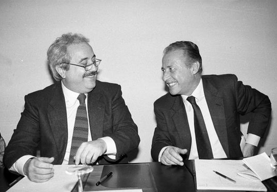 Borsellino e Falcone, amici goliardici