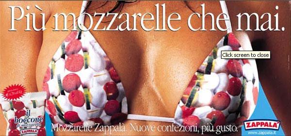 Il seno (elemento importante dell'identità femminile) equiparato a mozzarelle.